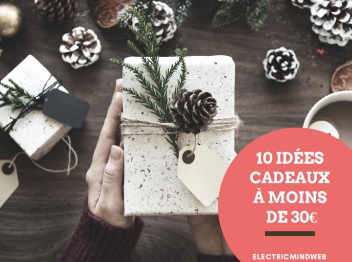 Noël : 10 idées cadeaux à moins de30€